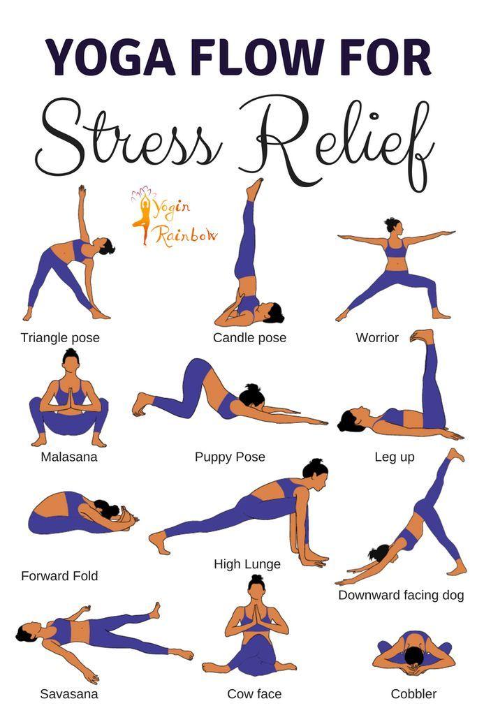 16 Yoga-Übungen zum Stressabbau #pilatesyoga
