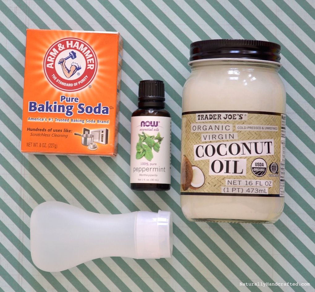 you need 3 all natural ingredients coconut oil baking