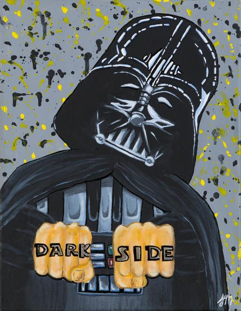 """""""Dark Side"""" Painting by Jessyca Myers.  You can purchase as an Art Print or a Greeting card."""