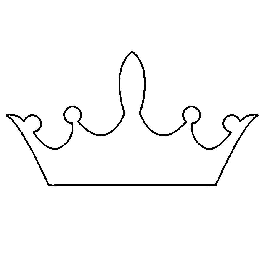 Выкройка короны на девочку