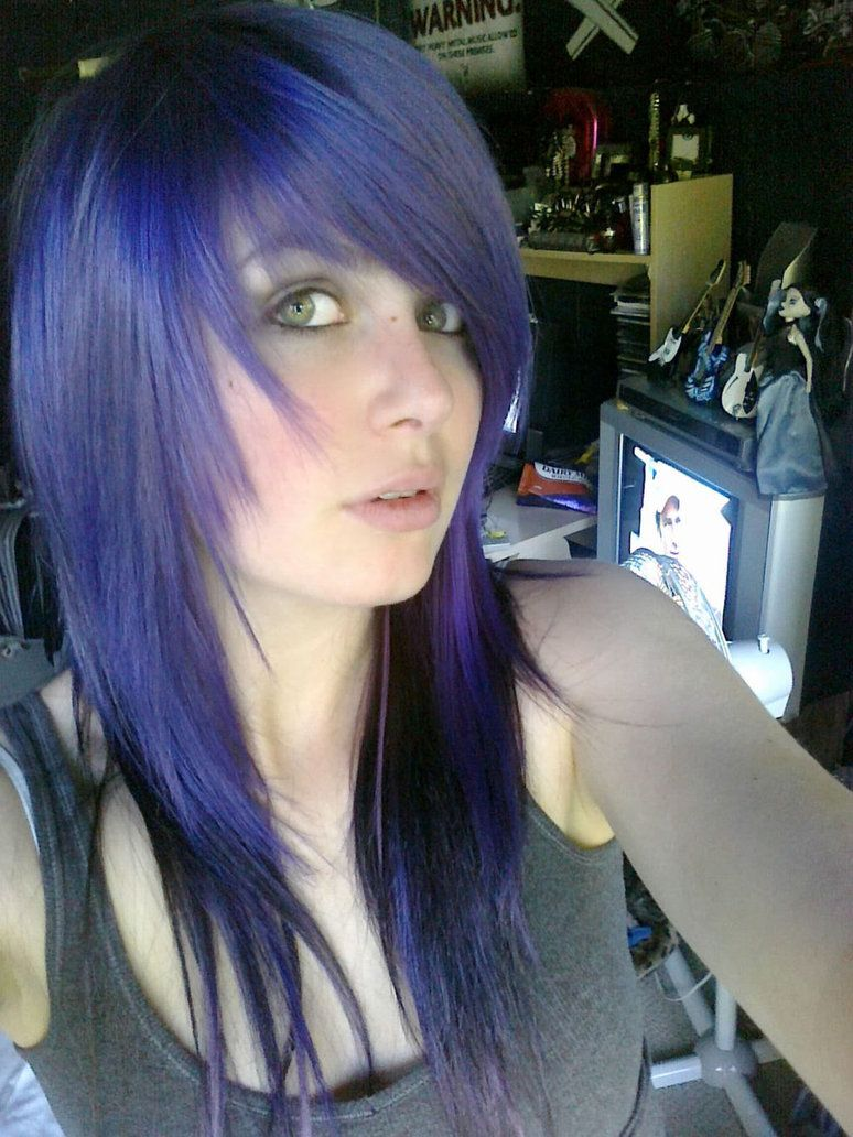 Blue hair hair styles and colours pinterest blue hair emo