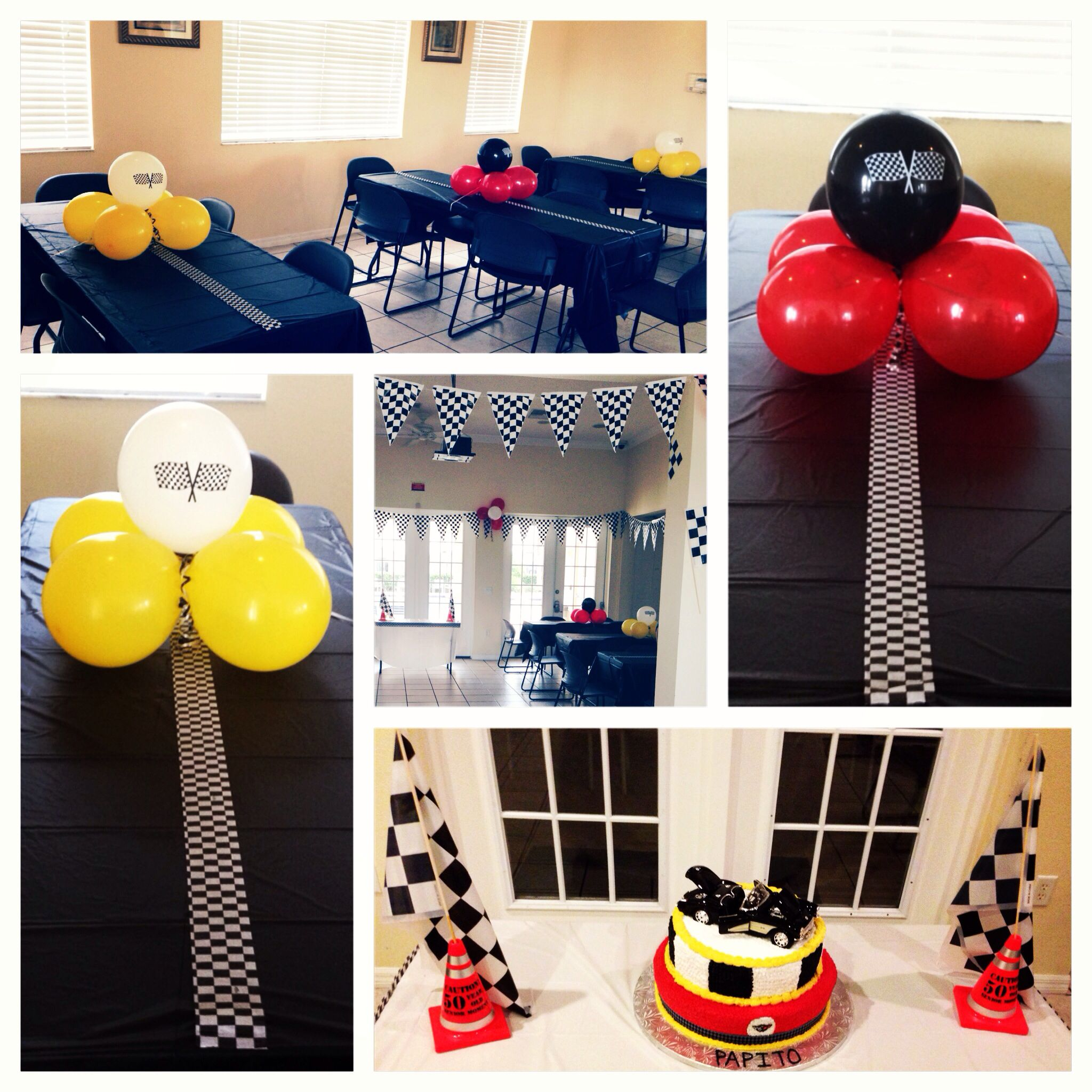 Corvette birthday party DIY centerpieces 50th birthday Random