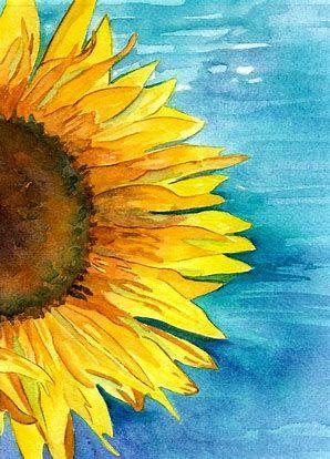 Image Result For Sunflower Watercolor Arte De Acuarela Pinturas