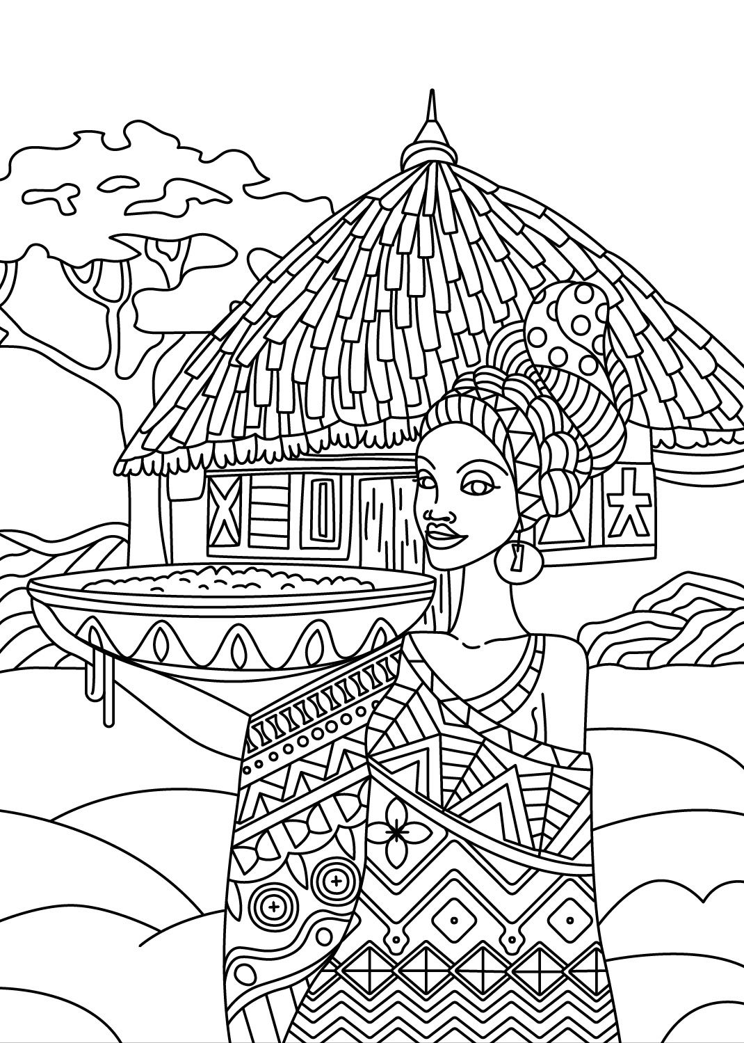 african colorish coloring book app for adults mandala relax by goodsofttech - Adult Coloring Book App