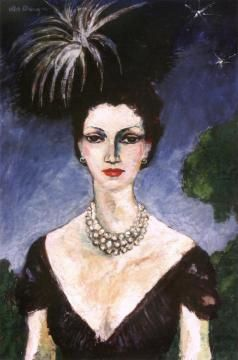 Monique With Hat Artwork by Kees Van Dongen