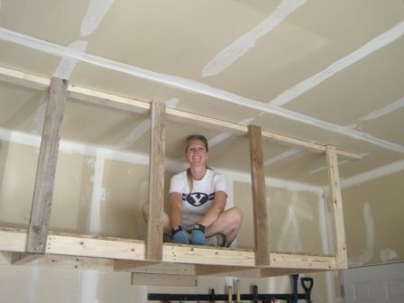 Overhead Hanging Storage I Am Hardware Garage Storage Shelves Garage Ceiling Storage Garage Storage Solutions