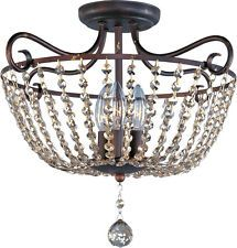 Laurel Foundry Modern Farmhouse Eugenia 3 Light Semi Flush Mount