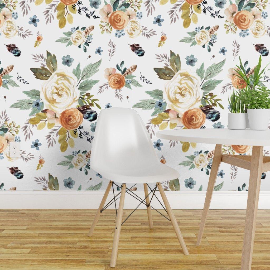 Lotus Floral Wallpaper Self Adhesive Wallpaper Removable Wallpaper Peel And Stick Wallpaper Floral Wall Art Floral M Wallpaper Lotus Wallpaper Floral Wallpaper