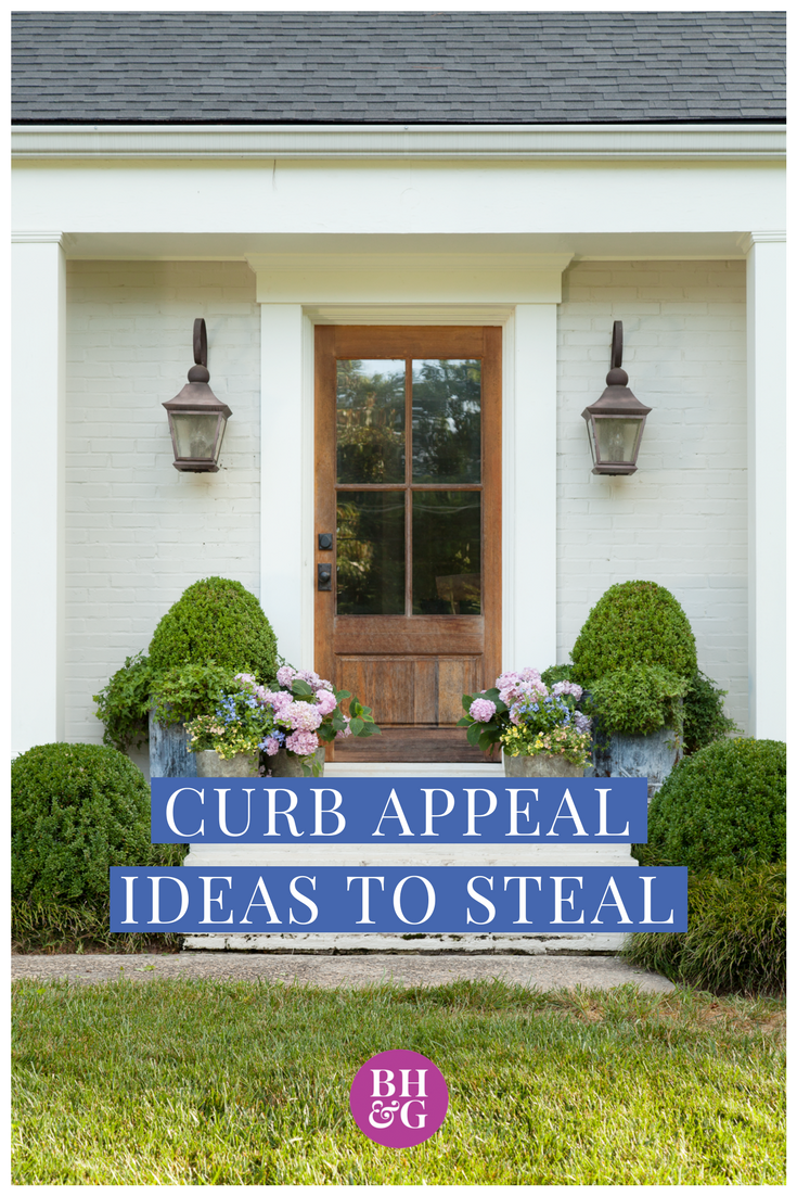 Creative Curb Appeal Ideas Landscape Ideas Front Yard Curb Appeal Front Door Landscaping Front Yards Curb Appeal