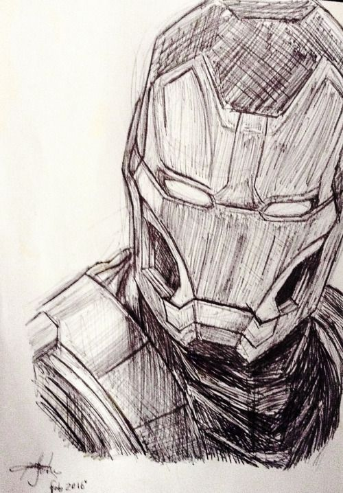 Awesome Iron Man Sketch Visions Of Iron Man Avengers Drawings