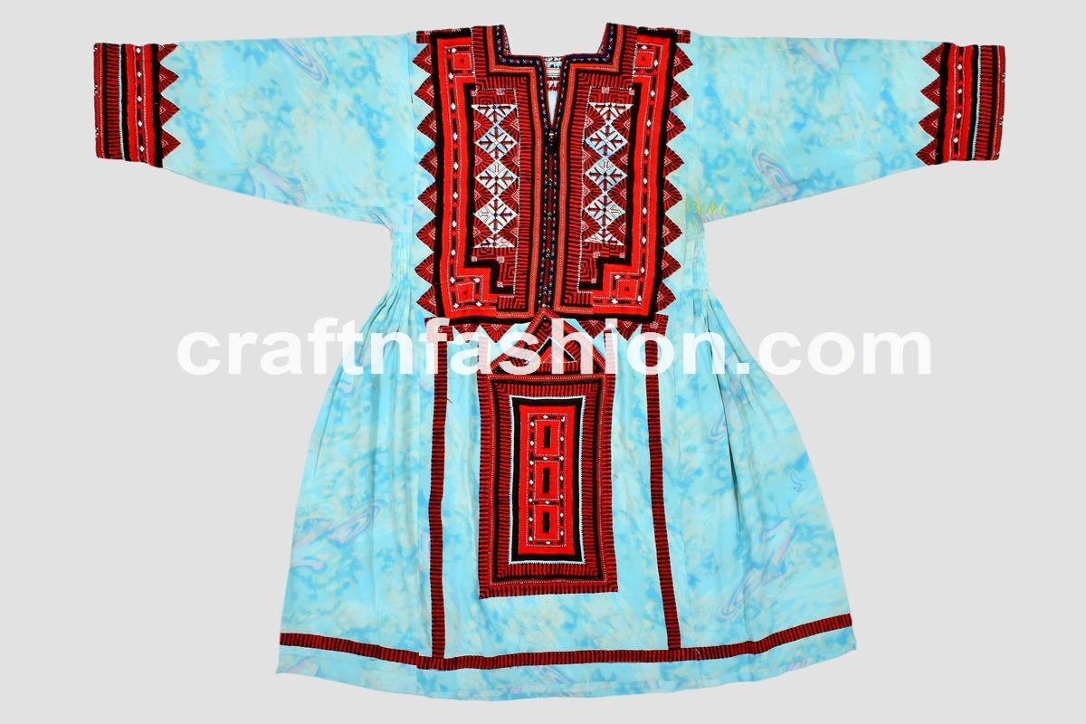 b323308784f Bohemian Banjara Balochi Dress - Embroidered Handmade Afghan Pakistan Tunic  -Traditional Vintage Kuchi Culture Ethnic