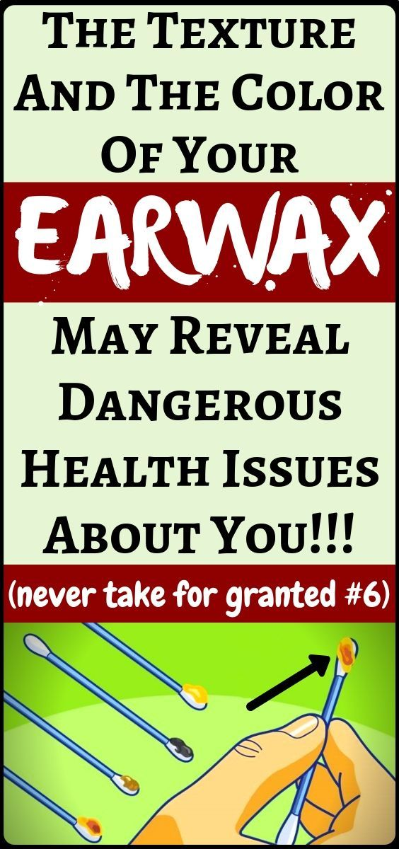 #possible #fitness #texture #health #issues #health #earwax #reveal #things #color #about #many #the...