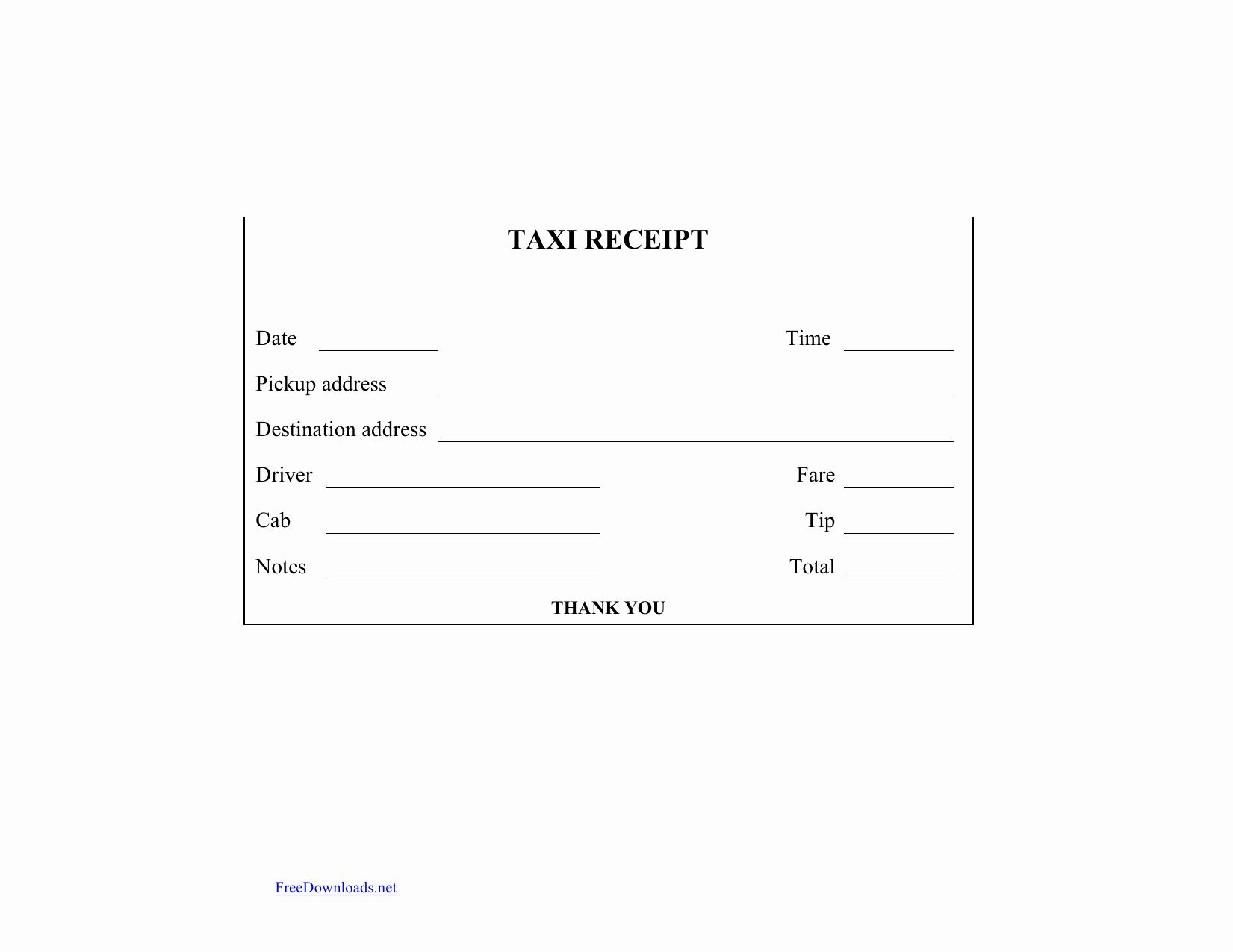 Receipt Template Free Download New Download Blank Printable Taxi Cab Receipt Template Receipt Template Business Template Templates