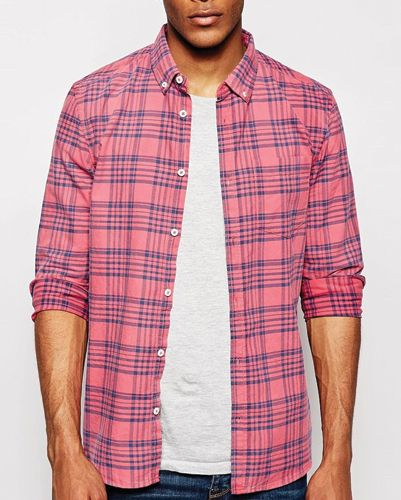 Posh Pink Check Flannel Shirt Wholesale Men S Flannel Shirt