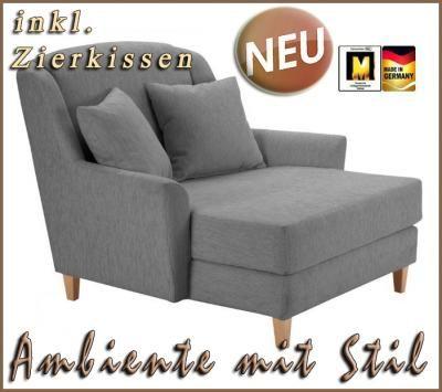 neu big sessel ohrensessel fernsehsessel in grau top dream home pinterest ohrensessel. Black Bedroom Furniture Sets. Home Design Ideas