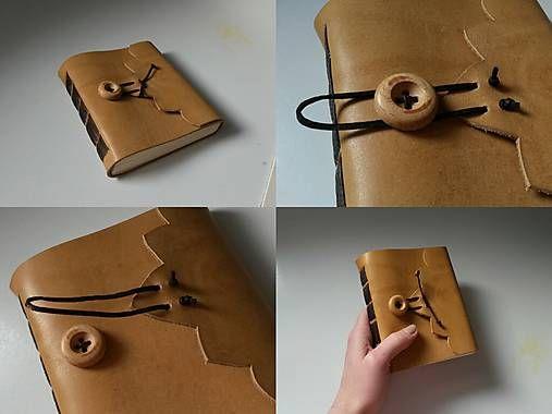 leather journal / diy / bookbinding / handmade / craft /  Praktický kožený zápisník (A6-)