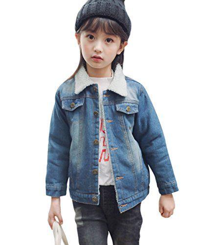 26248db08f62 Tortor 1Bacha Kid Grils  Sherpa Lined Long Sleeve Denim Jacket ...