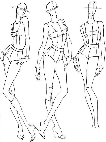 Male figure drawing, fashion drawing 77