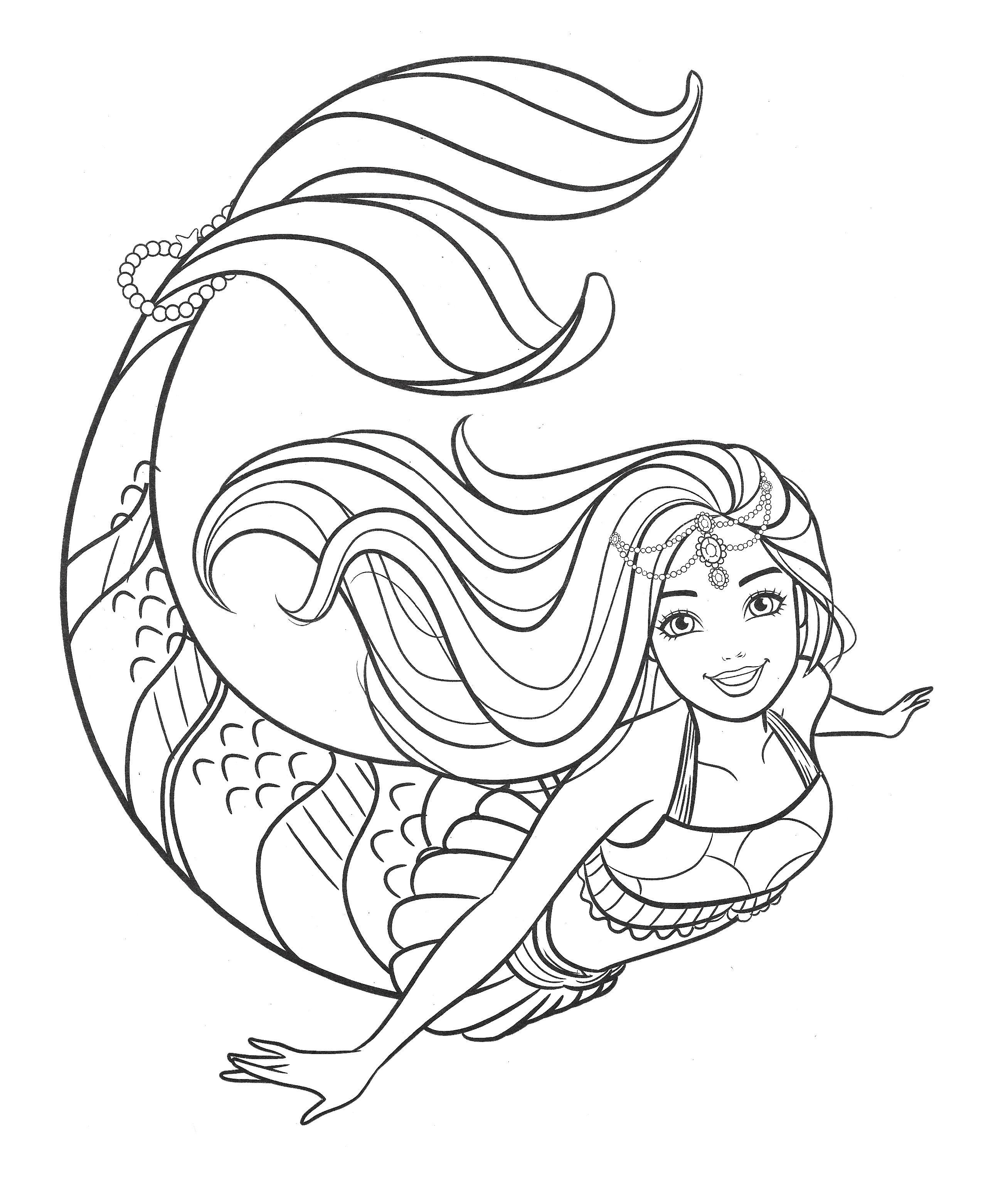 Pin By Yuki On Barbie In 2020 Mermaid Coloring Mermaid Coloring Pages Barbie Coloring