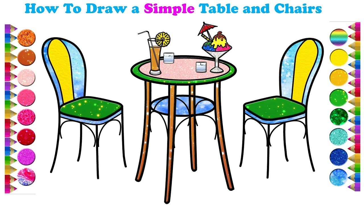 How To Draw Table And Chairs Art Attack Ideas Drawings Chair