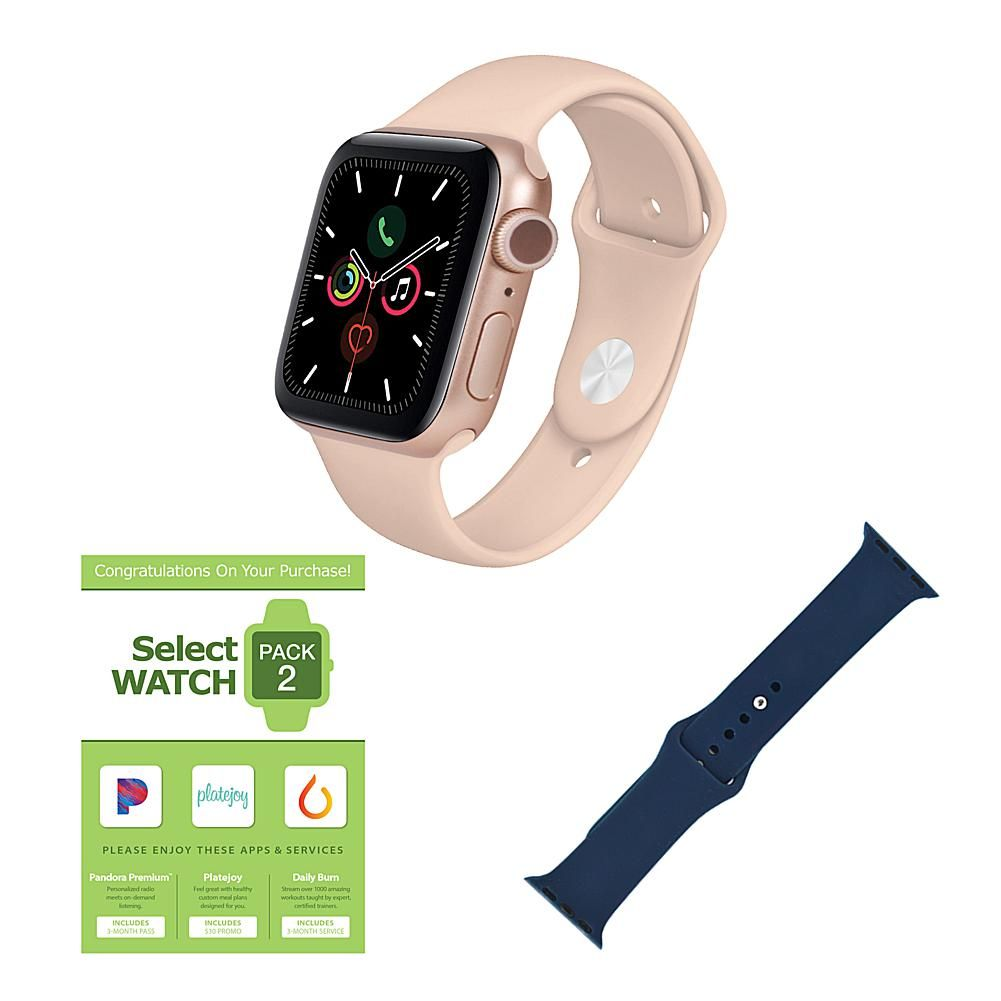 Apple Watch Series 6 GPS 44mm Bundle The Apple Watch Series 6 lets you measure your blood oxygen level with a revolutionary new sensor and app. Take an ECG from your wrist. See your fitness metrics on the enhanced Always-On Retina display, now 2.5x brighter outdoors when your wrist is down. Set a bedtime routine and track your sleep. And reply to calls and messages right from your wrist. It's the ultimate device for a healthier, more active, more connected life. What You Get Apple Watch Series 6