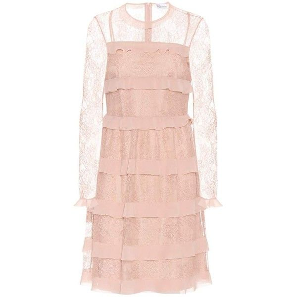 Redvalentino Lace Dress 1 515 Liked On Polyvore Featuring Dresses Pink