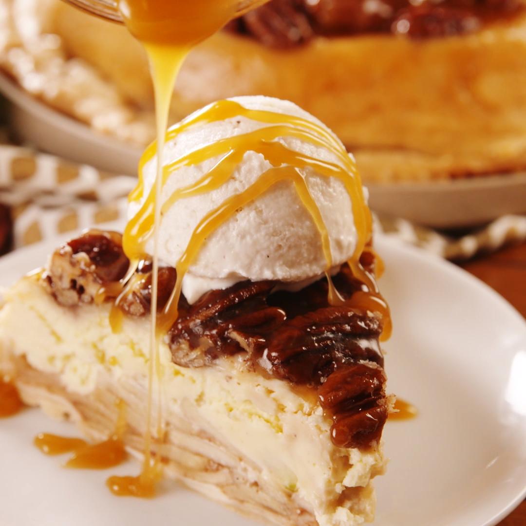 Upside Down Cheesecake Apple Pie Desserts, Sweet