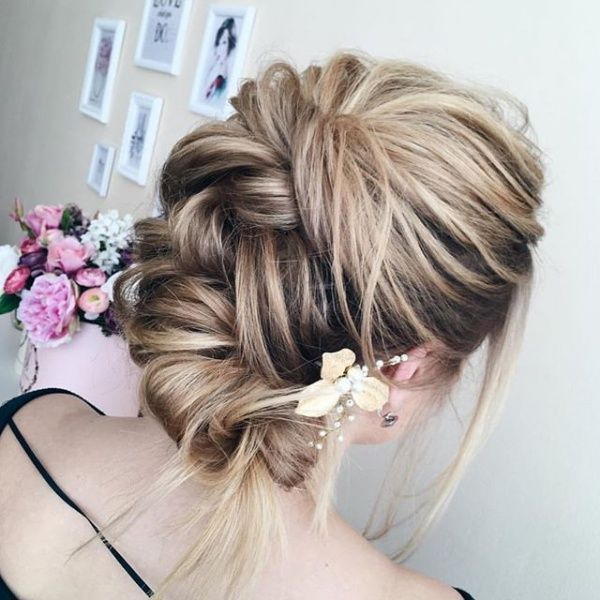 Messy Updo Hairstyles Cool Top 10 Messy Updo Hairstyles  Bridal Updo Updo And Messy Updo