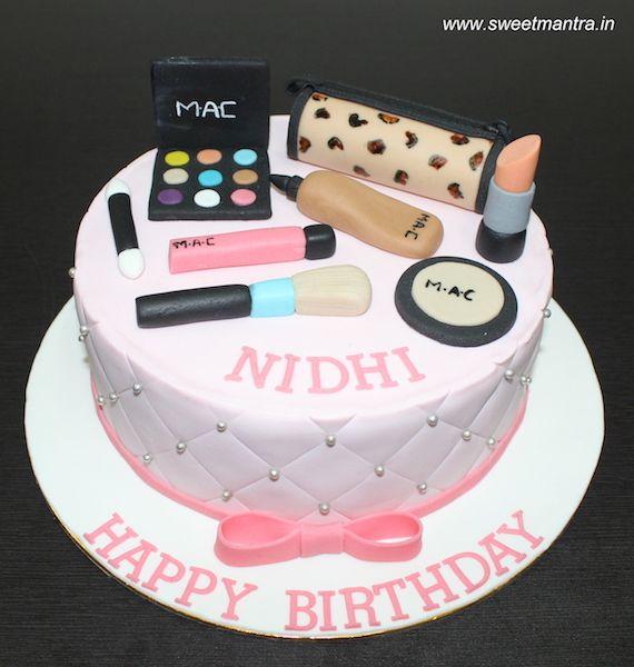 Mac Makeup Theme Customized Designer Fondant Cake With 3d Makeup