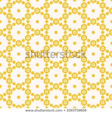 Yellow vector geometric seamless pattern  Graphic ornament
