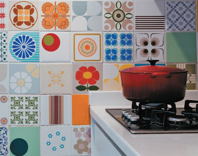 Fab tiled wall good stuff pinterest walls kitchens and house