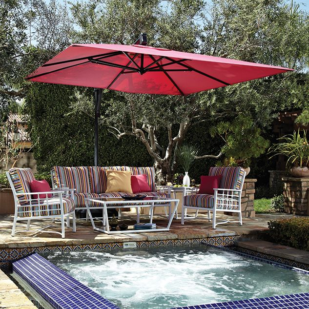Treasure Garden 10 Square Cantilever Umbrella With Images Patio Outdoor Patio Umbrella