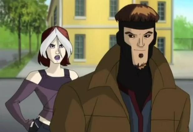 X Men Evolution Image Rogue And Gambit X Men Evolution X Men Marvel Rogue