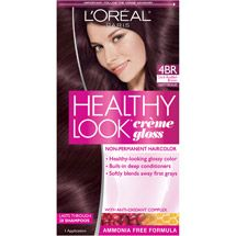Walmart L Oreal Paris Healthy Look Creme Gloss Hair Color 4br Dark