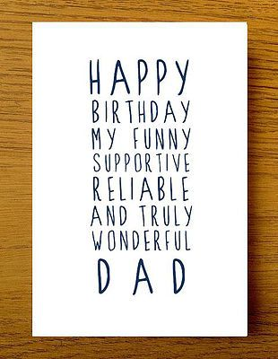 Sweet Description Happy Birthday Dad Card
