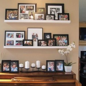 Gorgeous Family Picture Arrangement Ideas For Nice Living Room ...
