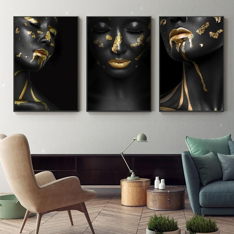 Black And Gold Wall Art She Gold Wall Art Canvas Wall Art Wall Art