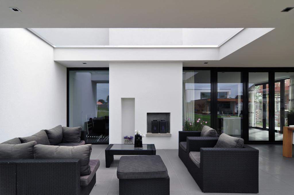 Veranda moderne woning lichtenvoorde bouwbedrijf hubers architectuur pinterest verandas - Veranda modern huis ...