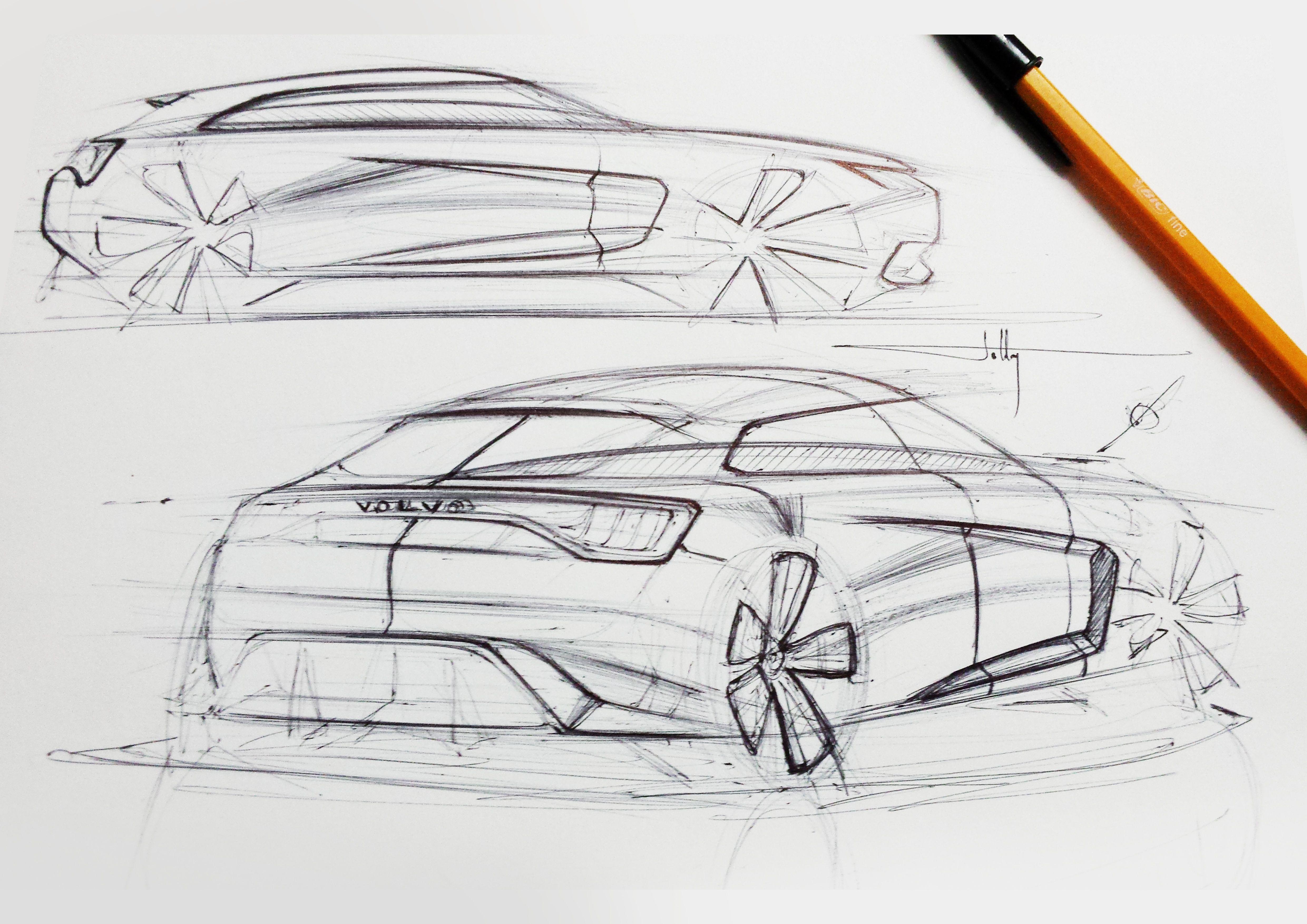 Volvo Quick Hatchback Sketch