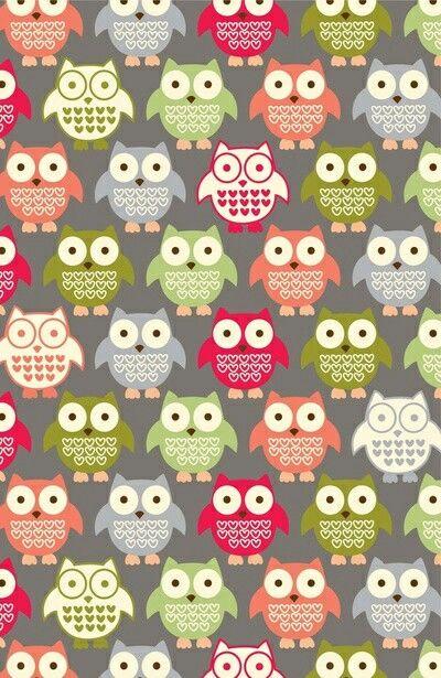 Cute Owls Wallpaper Oboi Hipster Oboi Oboi Dlya Iphone