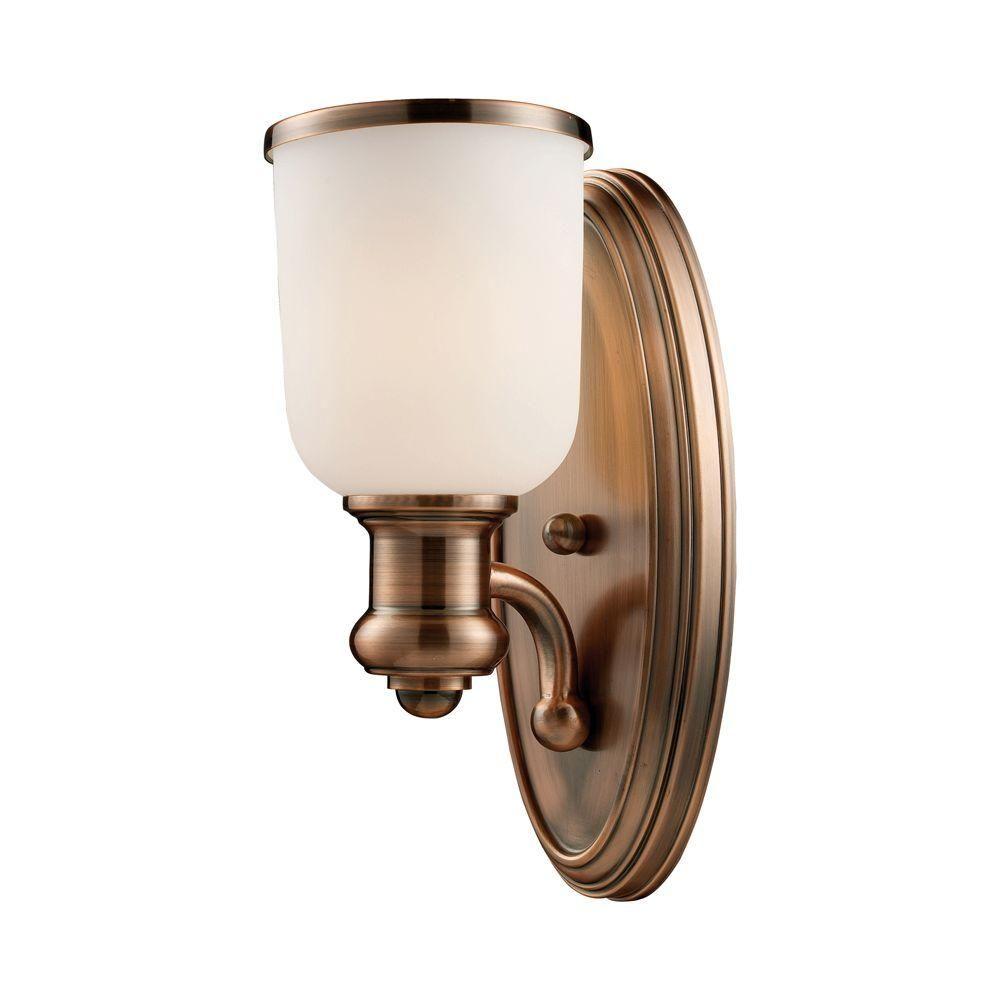 Titan Lighting Brooksdale 1-Light Antique Copper Sconce