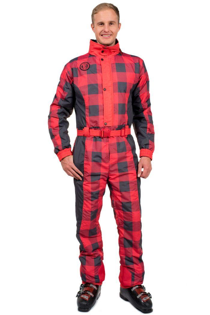5821b490784c0d Men's Buffalo Print Ski Suit | Winter Sports | Winter suit, Buffalo ...
