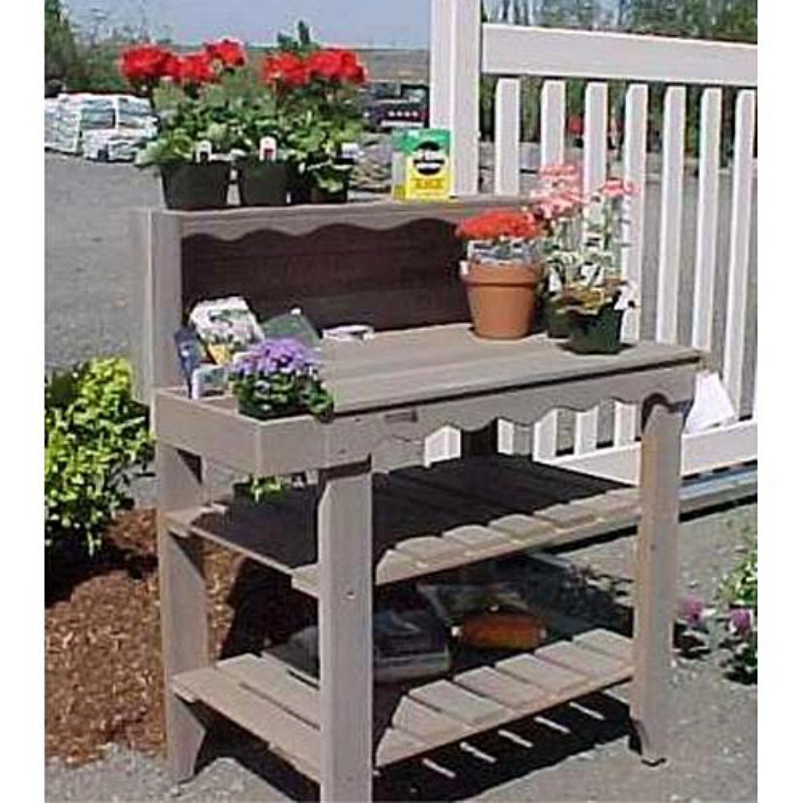 Planting Tables For Sale Wood Country Cedar Wood Deluxe Potting Bench Green In 2019