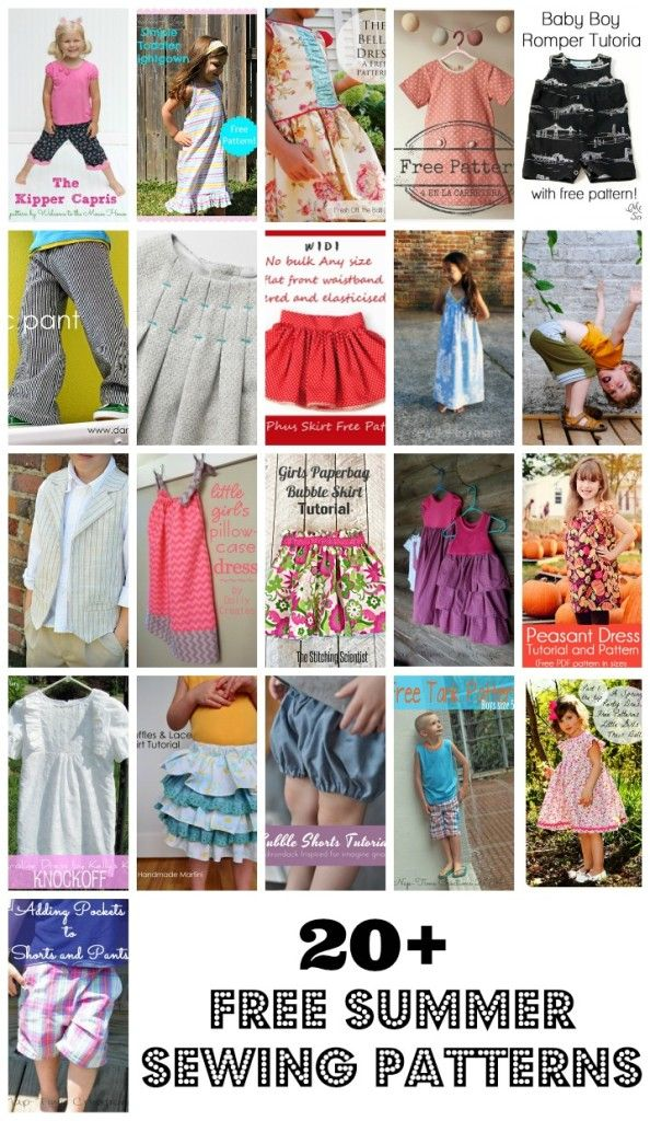 20+ Free Sewing Patterns for Kids - Nap-time Creations | Clothes to ...
