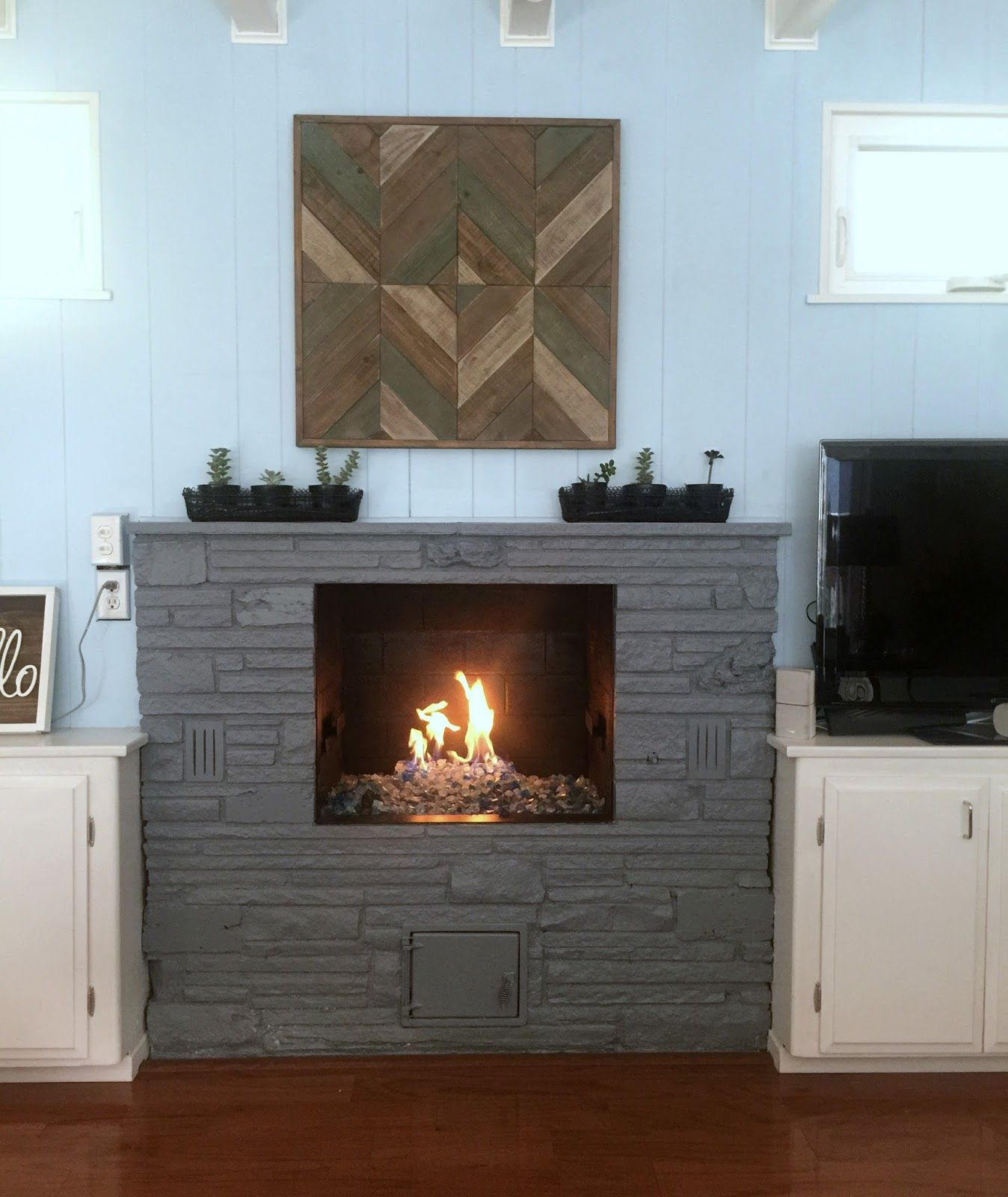 Family Room Update Fireplace Makeover Organizing Made