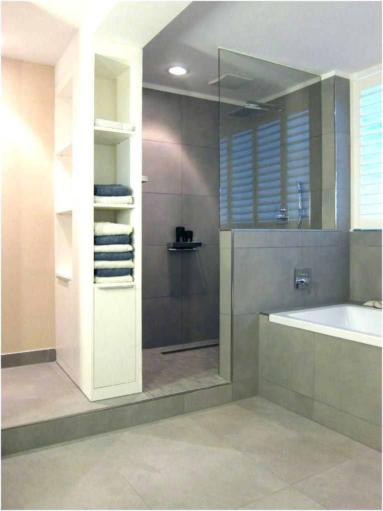 Begehbare Dusche Gemauert Dusche Fliesen Badgestaltung Graue Fliesen