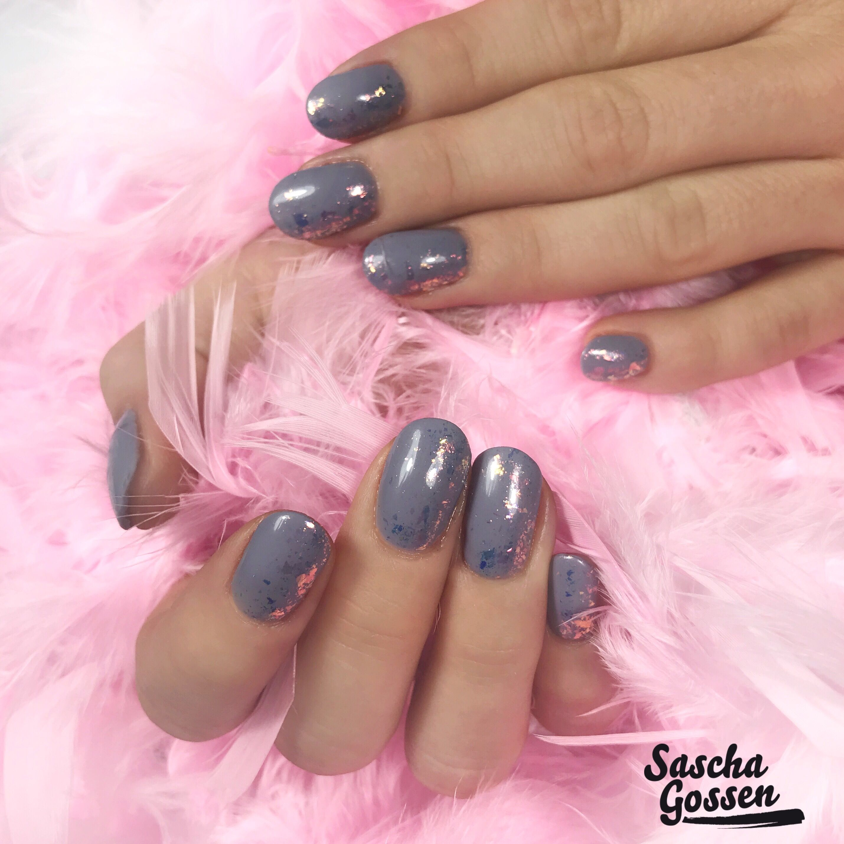CND™ SHELLAC™ Mystic Slate with Magic Flakes. #nailstagram #nail ...