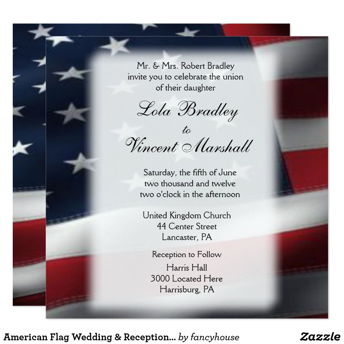 Military Theme Wedding Invitations 5.25\