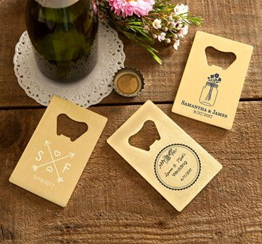 Personalized Gold Credit Card Bottle Opener Wedding Bridal Goldcred Wedding Bottle Opener Favors Credit Card Bottle Opener Wedding Credit Card Bottle Opener