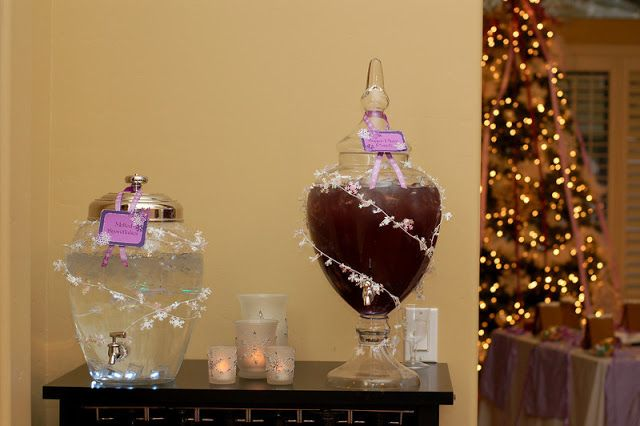 Melted Snowflakes and Sugar Plum Punch #nutcracker  {Real Parties} Sugar Plum Fairy Birthday Party!